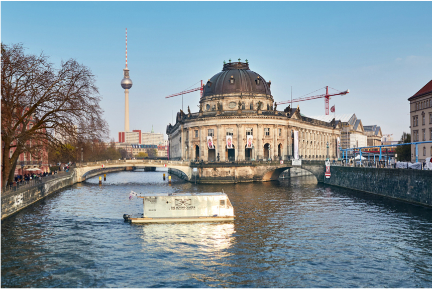 #8 Image Caption: Maciej Markowicz is making a photograph of Bode Museum with the floating camera